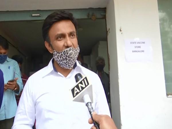 K Sudhakar, Health Minister, Karnataka (Photo/ ANI)