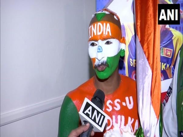 Indian supporter Sudhir Gautam