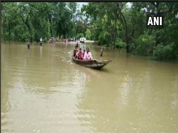 Heavy rains have caused flooding in Sukma district. Photo/ANI