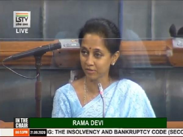 NCP MP Supriya Sule speaking in Lok Sabha on Monday.