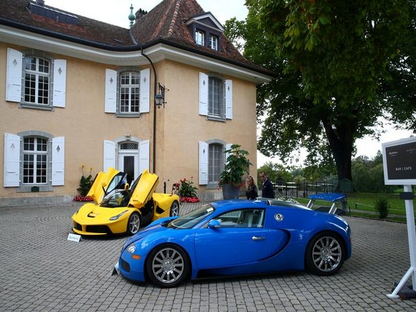 Two of the supercars confiscated from the vice-president of Equatorial Guinea as part of a corruption probe in 2016