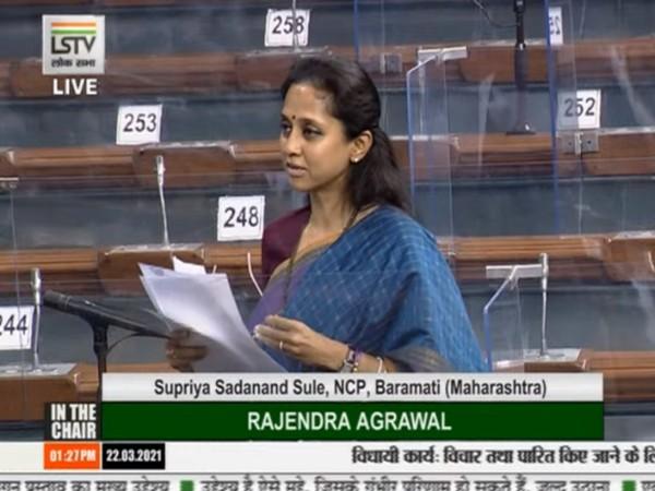 NCP MP Supriya Sule in Lok Sabha.