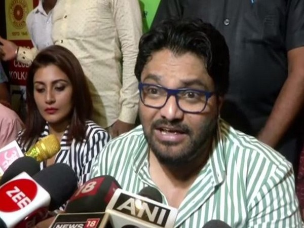 Union Minister Babul Supriyo talking to media persons at an event in Kolkata on Thursday. Photo/ANI