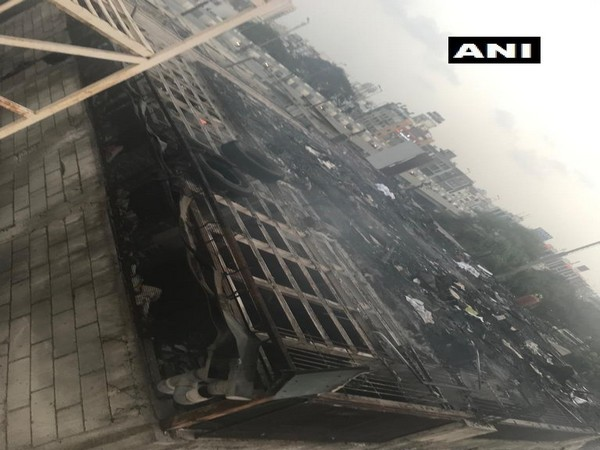 Fire broke out at 'Takshashila Arcade' in Sarthana area of Surat on Thursday