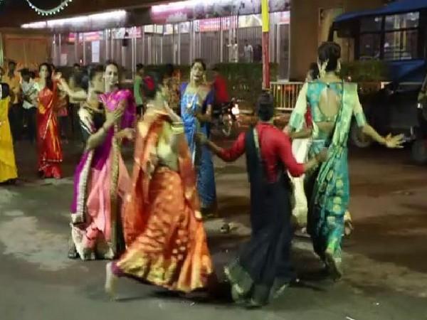 The celebrations underway in Surat's Godadara area (Photo/ANI)