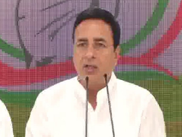 Congress leader Randeep Singh Surjewala  talking to the media here on Wednesday.