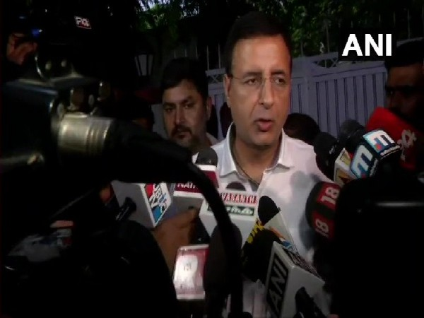 Congress Communications chief Randeep Singh Surjewala speaking to media in New Delhi on July 6.Photo/ANI