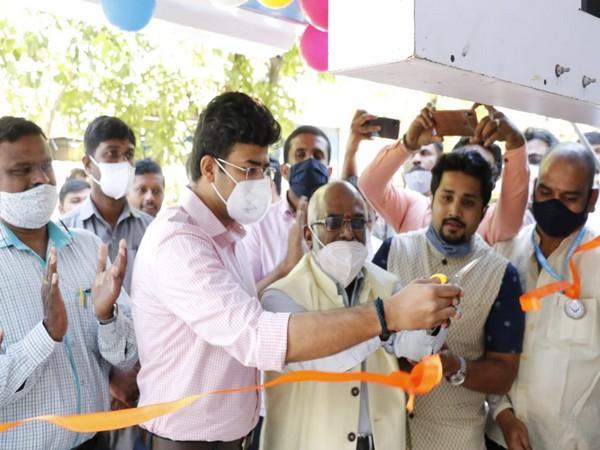Tejasvi Surya launches the mobile Common Service Centres in Bengaluru on Saturday. (Photo/ANI)