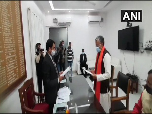 BJP leader Sushil Modi filing the nomination in Patna on Wednesday.