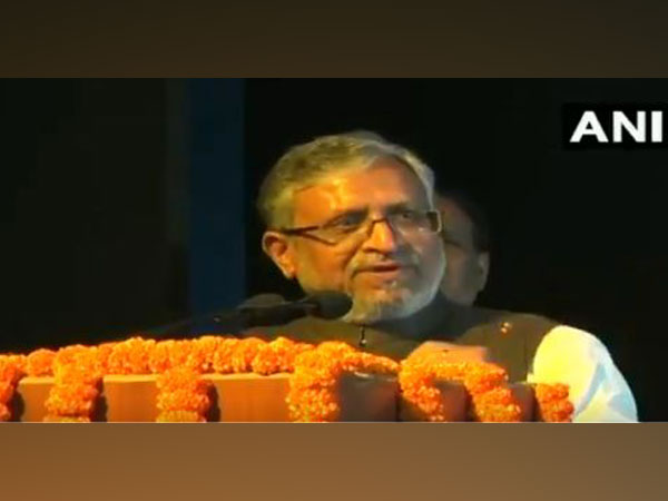 Bihar Deputy Chief Minister Sushil Modi speaking at an event in Patna on Friday.