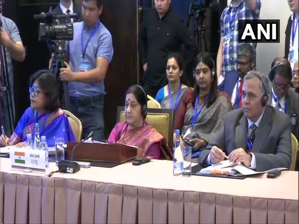 External Affairs Minister, Sushma Swaraj at the meeting of Council of Foreign Ministers (CFM) of Shanghai Cooperation Organisation in Bishkek, Kyrgyzstan.