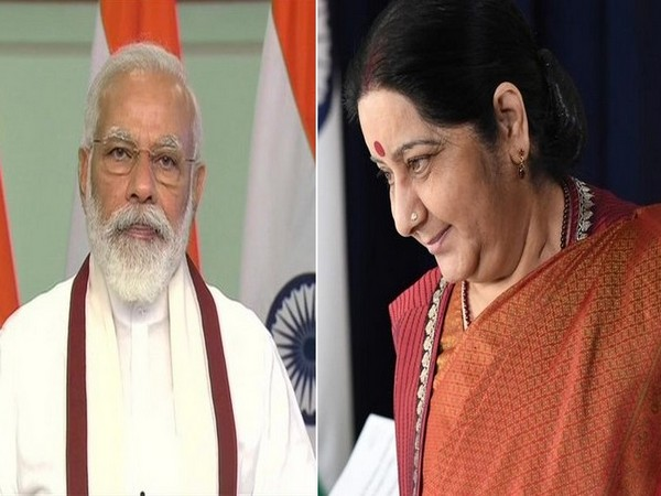 Prime Minister Narendra Modi and late Minister of External Affair Sushma Swaraj.