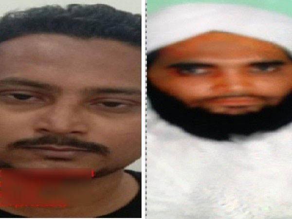 The photographs of two suspects in Kamlesh Tiwari murder case released by UP police.