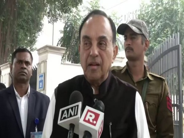BJP leader Subramanian Swamy speaks to ANI in New Delhi on Saturday [Photo/ANI]
