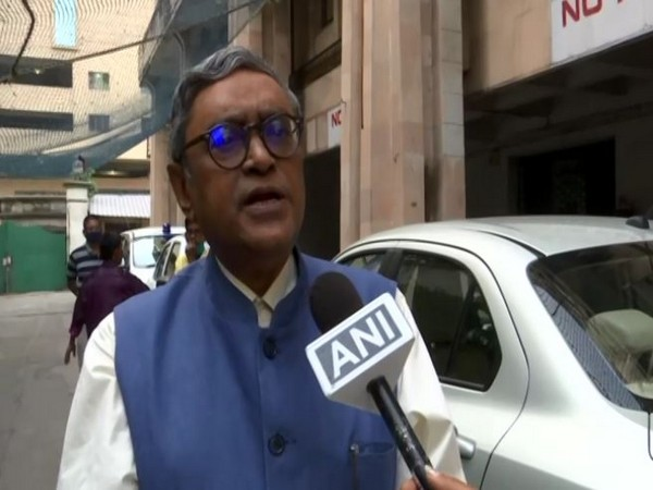 BJP leader Rajya Sabha MP Swapan Dasgupta speaking to ANI on Saturday. (Photo/ANI)