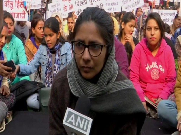DCW chairperson Swati Maliwal speaking to ANI in New Delhi on Thursday.