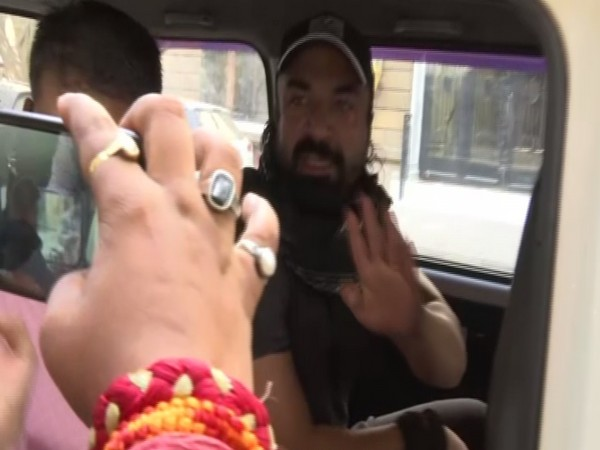 Actor Ajaz Khan being taken for medical check-up on Wednesday by NCB. (Photo/ANI)