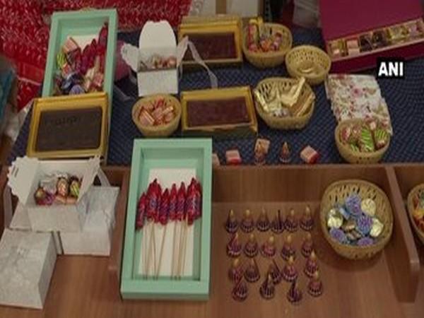 Cracker-shaped chocolates being sold in Bengaluru. (Photo ANI)