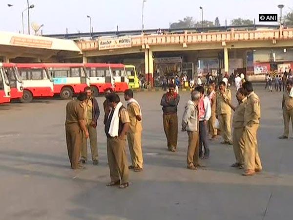 Visual of a bus stand in Karnataka (Photo/ANI)