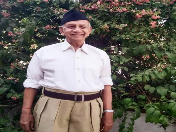 Former RSS leader Amrutbhai Kadiwala (Photo/Twitter)