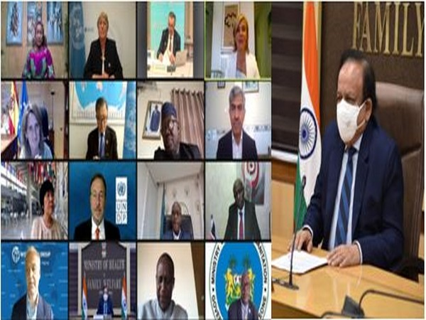Dr Harsh Vardhan addresses WHO high-level coalition on Health and Energy Platform of Action (photo/ANI)