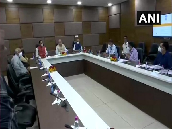 Visual of the meeting chaired by Union Minister Amit Shah (Photo/ANI)