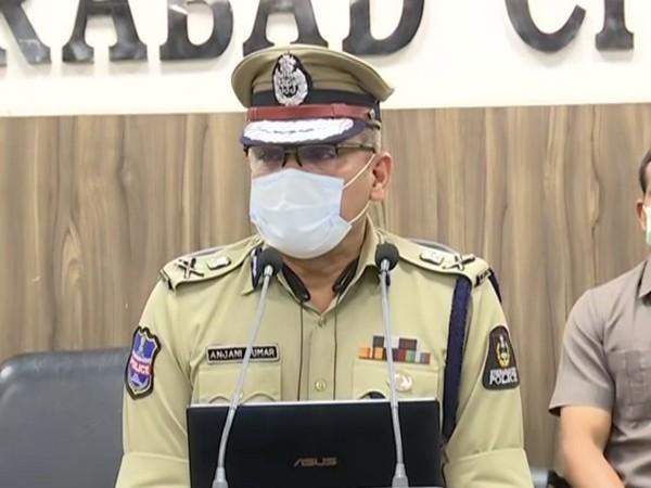 Hyderabad City Police Commissioner, Anjani Kumar (Photo/ANI)