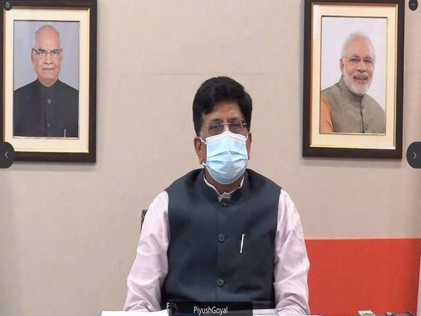 Visual of meeting chaired by Union Minister Piyush Goyal (Photo/ANI)