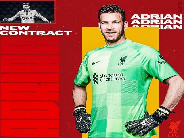 Liverpool goalkeeper Adrian (Photo/ Liverpool Twitter)