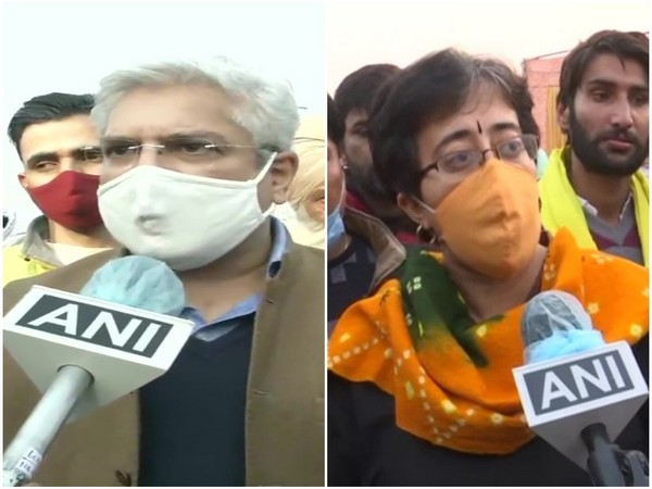 Delhi Minister Kailash Gehlot (Left) and AAP leader Atishi. (Photo/ANI)