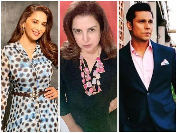 Madhuri Dixit Nene, Farah Khan Kunder and Randeep Hooda (Image courtesy: Instagram)