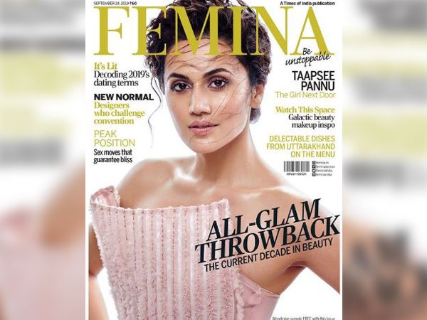 Taapsee Pannu as the cover girl of Femina magazine (Image courtesy: Instagram)