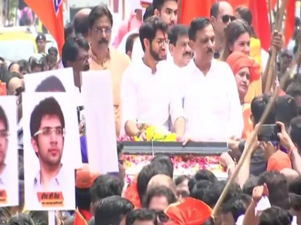 Shiv Sena leader Aaditya Thackeray in Mumbai on Thursday. Photo/ANI