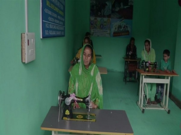 Visual from the tailoring unit opened by the Indian Army on Saturday. Photo/ANI
