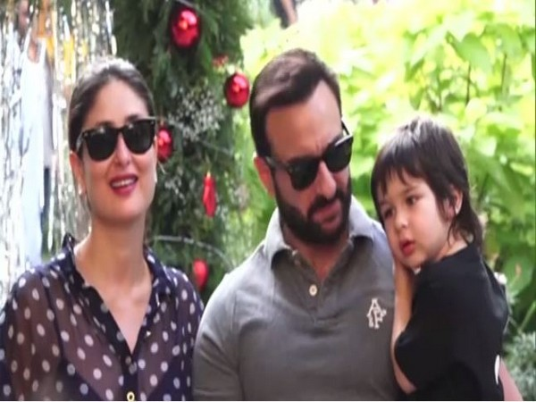 Birthday boy Taimur with parents Saif Ali Khan and Kareena Kapoor Khan