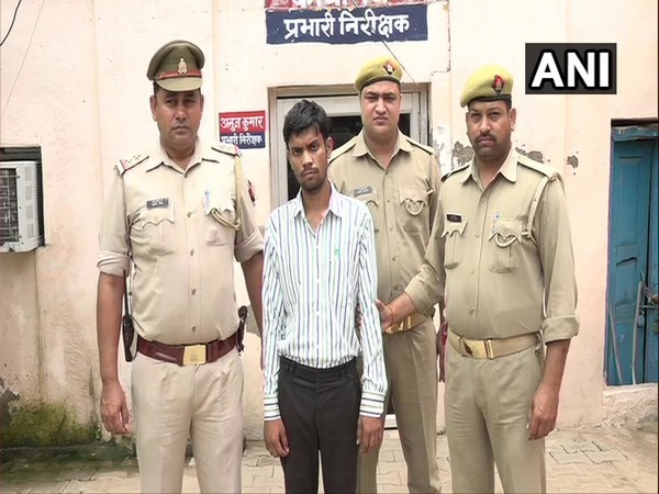 The accused father who allegedly killed his son in Tajgnaj area, Agra, on Saturday. (Photo/ANI)
