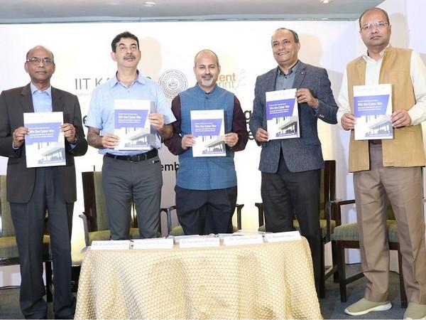 L to R: B Sambamurthy, Independent Director, National Securities Depository Ltd, Jayesh Ranjan, IT Secretary, Govt. of Telangana, Dr Sandeep Shukla, Professor, IIT Kanpur, Dr Paul, Dr Agrawal