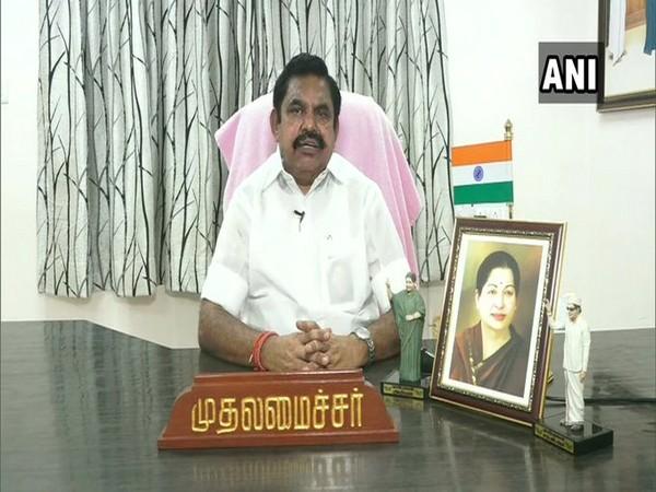Tamil Nadu Chief Minister Edappadi Palaniswamy [File Photo/ANI]