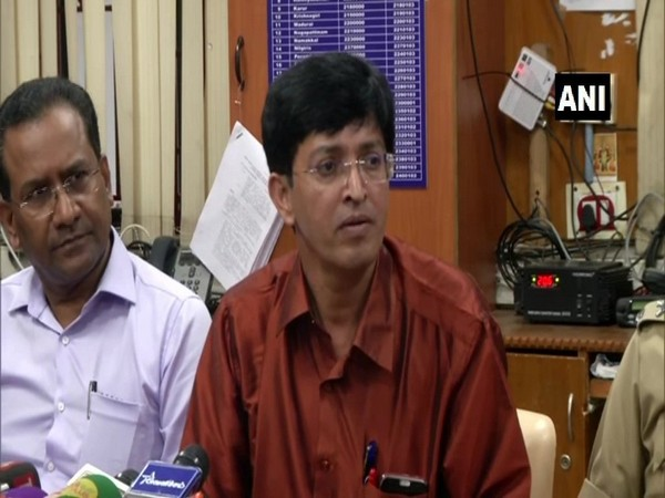 J Radhakrishnan, Tamil Nadu Disaster Management secretary speaks to media in Tamil Nadu on Wednesday [Photo/ANI]