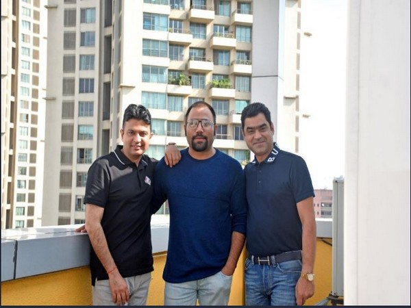 Bhushan Kumar, Sandeep Reddy Vanga and Murad Khetani (Image courtesy: Twitter)