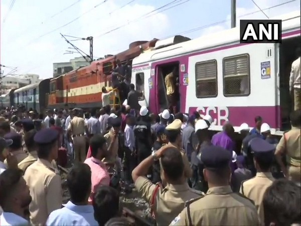 The trains via Kachiguda station have been diverted and the route will be restored as soon the tracks are cleared. (Photo/ANI)