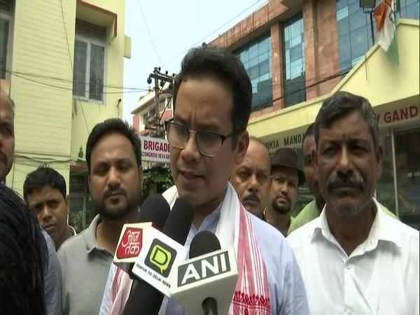 Congress leader Gaurav Gogoi speaking to media on Sunday