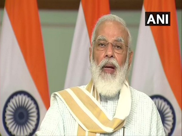 Prime Minister Narendra Modi speaking at the launch of a platform for