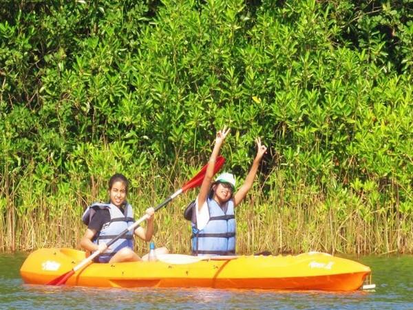 Kids having fun at Trailblazers camp