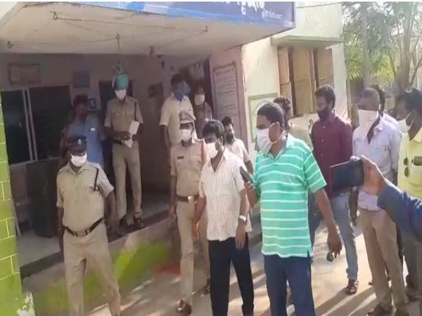 TDP leader Kuna Ravi Kumar, who is accused of abusing and threatening a tehsildar, produced before judicial first class magistrate in Andhra Pradesh's Srikakulam on Wednesday. Photo/ANI