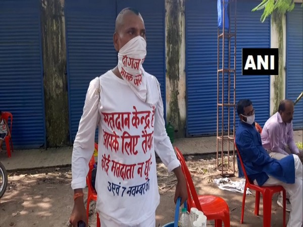 A tea seller is spreading awareness anout voting rights. (Photo/ANI)