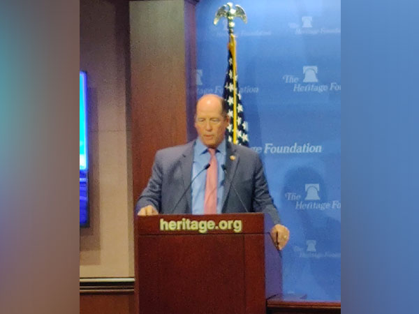 Florida Congressman Ted Yoho addressing an event in Washington DC on Wednesday. (Picture Credits: ORF Twitter)