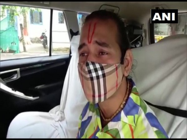 RJD leader Tej Pratap Yadav speaking to reporters on Friday.