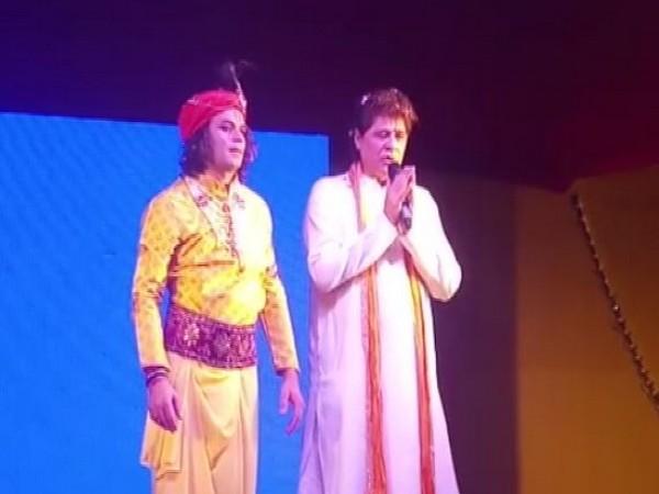Tej Pratap dressed as lord Krishna on Janmashtami in Patna on Friday