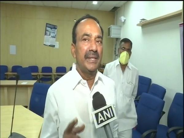 Telangana Health Minister Etela Rajender speaks to ANI in Hyderabad [Photo/ANI]